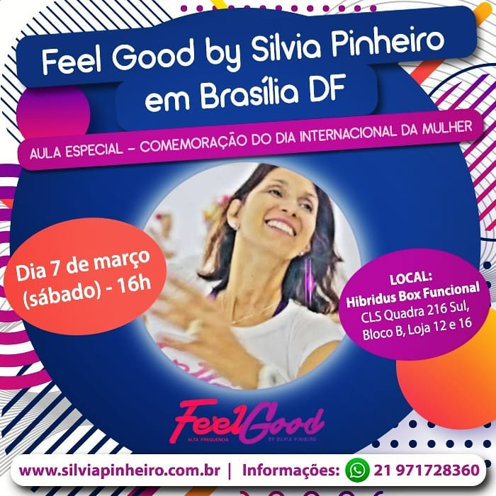 You are currently viewing FEEL GOOD BY SILVIA PINHEIRO EM BRASÍLIA – DF!!